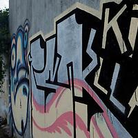 South America, Chile, Puerto Varas. Graffiti in Puerto Varas.