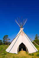 Teepee, Site of American Indian Sundance (on the Summer Solstice), Black Hills Wild Horse Sanctuary, near Hot Springs, Black Hills, South Dakota USA