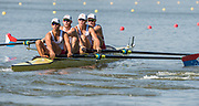 Plovdiv BULGARIA. 2017 FISA. Rowing World U23 Championships. <br /> USA BM4-. Bow. TOCH, Leo, LETORNEY, Austin, SCHMIDT, George and GRIFFIN, Andrew<br /> Wednesday. PM,  Heats 17:32:49  Wednesday  19.07.17   <br /> <br /> [Mandatory Credit. Peter SPURRIER/Intersport Images].