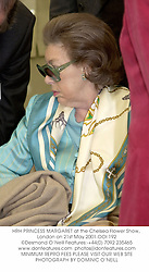 HRH PRINCESS MARGARET at the Chelsea Flower Show, London on 21st May 2001.OOI 192