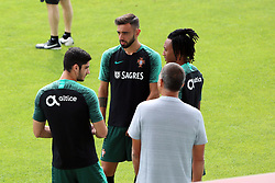 September 6, 2018 - Na - Loulé, 05/09/2018 - National Team AA: Preparation for the League of Nations: Adaptive training for the preparation match with Croatia at the Estádio Algarve. Gonçalo Guedes; Bruno Fernandes; Gelson Martins; (Credit Image: © Atlantico Press via ZUMA Wire)