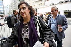 © Licensed to London News Pictures. 04/09/2018. London, UK. YASMINE DAR (left) and DARREN WILLIAMS (right) arrive at Labour Party headquarters in London to attend a National Executive Committee meeting. The Labour Party's ruling body is expected to vote on whether to adopt, in full, the IHRA (International Holocaust Remembrance Alliance) definition of anti-Semitism. Photo credit: Ben Cawthra/LNP