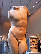 Marble Torso of a youth. Roman copy of a Greek statue. 1-2 nd Century AD