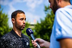 Aljaz Kos president of ATP Portoroz 2019 during ATP Press conference with Aljaz Bedene, on July 25th, 2019, in Ljubljansko kopalisce Kolezija, Ljubljana, Slovenia. Photo by Grega Valancic / Sportida
