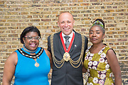 Councillor Christopher Wellbelove, Mayor of Lambeth with Emita Griffith Cllr Sonia Winifred, Cabinet Member for Equalities and Culture, during the Windrush70 celebration on the 23rd June 2018 in Brixton in the United Kingdom. (photo by Sam Mellish / In Pictures via Getty Images)