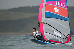 31.07.2012, Bucht von Weymouth, GBR, Olympia 2012, Windsurfen, im Bild RS:X Men, Leung Ho Tsun (HKG) . EXPA Pictures © 2012, PhotoCredit: EXPA/ Juerg Kaufmann ***** ATTENTION for AUT, CRO, GER, FIN, NOR, NED, POL, SLO and SWE ONLY!