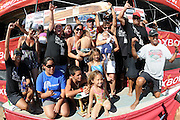 November 4th 2010: Duane Desoto and family on stage during the final day of competition of the ASP World Longboard Championship at Makaha Oahu-Hawaii. Photo by Matt Roberts/mattrIMAGES.com.au