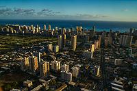 Moilili Neighborhood (foreground) & Waikiki Skyline