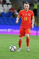 Football - 2022 FIFA World Cup - European Qualifying - Group E - Wales vs Estonia - Cardiff City Stadium - Wednesday 8th September 2021<br /> <br /> Joe Morrell Wales on the attack<br /> <br /> COLORSPORT/WINSTON BYNORTH