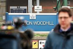 © Licensed to London News Pictures. 31/01/2012. MILTON KEYNES, UK. General view, taken today (Tue) of Woodhill Prison in Milton Keynes, Buckinghamshire, where Rimvydas Liorancas, 37, was found hanging in his cell on Saturday. Liorancas was charged with the murder of Avtar and Carole Kolar at their home in Birmingham. The Category A prison was opened July 1992.. In 1998 one wing was re-designated as a close supervision centre, which holds a small number of prisoners who are among the most difficult and disruptive in the prison system. Photo credit :  Cliff Hide/LNP