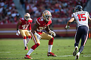 San Francisco 49ers cornerback Dontae Johnson (36) defends Houston Texans wide receiver Will Fuller (15) at Levi's Stadium in Santa Clara, Calif., on August 14, 2016. (Stan Olszewski/Special to S.F. Examiner)