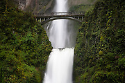 Multanomah Falls in Spring. Columbia River Gorge, Oregon.