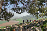 Mount Gilboa observation point with a view of the Jezreel valley