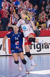 Linn Jrrum Sulland  of Larvik  during 3rd Main Round of Women Champions League handball match between RK Krim Mercator, Ljubljana and Larvik HK, Norway on February 19, 2010 in Arena Kodeljevo, Ljubljana, Slovenia. Larvik defeated Krim 34-30. (Photo by Vid Ponikvar / Sportida)