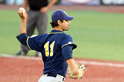 11 July 2012:  Nick Capito (Traverse City Beach Bums) during the Frontier League All Star Baseball game at Corn Crib Stadium on the campus of Heartland Community College in Normal Illinois