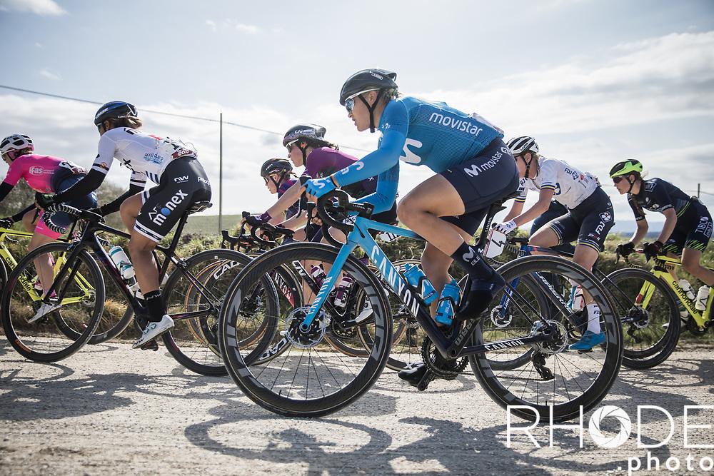 Katrine Aalerud (NOR/Movistar)<br /> <br /> 7th Strade Bianche Women Elite <br /> Siena > Siena 136km<br /> <br /> ©RhodePhoto