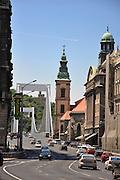 Eastern Europe, Hungary, Budapest, Erzsebet Bridge