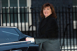 © Licensed to London News Pictures. 15/12/2015. London, UK. NICKY MORGAN arrives for a cabinet meeting in Downing Street. Photo credit : Vickie Flores/LNP