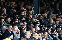 Leeds United fans watch on during the first half<br /> <br /> Photographer Alex Dodd/CameraSport<br /> <br /> The EFL Sky Bet Championship - 191123 Luton Town v Leeds United - Saturday 23rd November 2019 - Kenilworth Road - Luton<br /> <br /> World Copyright © 2019 CameraSport. All rights reserved. 43 Linden Ave. Countesthorpe. Leicester. England. LE8 5PG - Tel: +44 (0) 116 277 4147 - admin@camerasport.com - www.camerasport.com