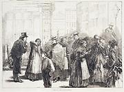 Servant Hiring Office, Berlin.  From 'The Illustrated London News' , London, 28 November 1874.