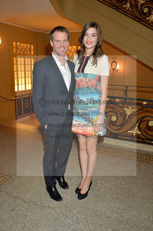 BEN LATHAM-JONES and ALMA JODOROWSKY at the Lancôme BAFTA Dinner held at The Cafe Royal, Regent's Street, London on 6th February 2015.