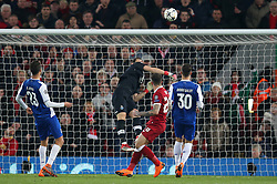 March 6, 2018 - Liverpool, U.S. - 6th March 2018, Anfield, Liverpool, England; UEFA Champions League football, round of 16, 2nd leg, Liverpool versus FC Porto; Danny Ings of Liverpool heads at goal but sees his effort well saved by Iker Casillas of Porto (Photo by Dave Blunsden/Actionplus/Icon Sportswire) ****NO AGENTS---NORTH AND SOUTH AMERICA SALES ONLY****NO AGENTS---NORTH AND SOUTH AMERICA SALES ONLY* (Credit Image: © Dave Blunsden/Icon SMI via ZUMA Press)