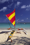 Outrigger Sailing Canoe, Kailua, Oahu, Hawaii<br />