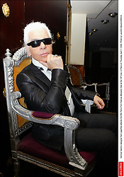 German fashion designer Karl Lagerfeld attends the19th Paris Film Festival afterparty held at the VIP club, in Paris on Thursday April 1, 2004. Photo by Laurent Zabulon/ABACA.