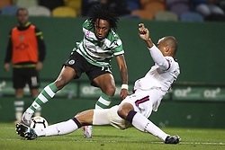 October 22, 2017 - Lisbon, Portugal - Sporting's midfielder Gelson Martins (L) vies with Chaves 's defender Conceicao  during the Portuguese League  football match between Sporting CP and Chaves at Jose Alvalade  Stadium in Lisbon on October 22, 2017. (Credit Image: © Carlos Costa/NurPhoto via ZUMA Press)