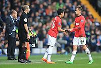 Manchester United's Shinji Kagawa comes on for the substituted Adnan januzaj
