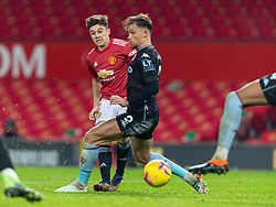 MANCHESTER, ENGLAND - Friday, January 1, 2020: Manchester United's Daniel James during the New Year's Day FA Premier League match between Manchester United FC and Aston Villa FC at Old Trafford. The game was played behind closed doors due to the UK government putting Greater Manchester in Tier 4: Stay at Home during the Coronavirus COVID-19 Pandemic. (Pic by David Rawcliffe/Propaganda)