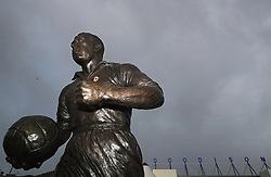 A general view of the statue of Dixie Dean outside Goodison Park