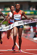 Mercy Cherono of Kenya wins the Prefontaine Classic's Women's 2 Mile with a time of 9:13.27.  The Prefontaine Classic, the longest-running international invitational meet in the United States, turns 40 this year.<br /> The 2014 elite competition held in Eugene, Oregon at the University of Oregon's historic Hayward Field is in it's 5th year hosting the IAAF's Diamond League event.