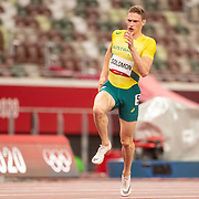 TOKYO, JAPAN August 2:  Steven Solomon of Australia in action in the 400m for Men Semi-Finals during the Track and Field competition at the Olympic Stadium  at the Tokyo 2020 Summer Olympic Games on August 2nd, 2021 in Tokyo, Japan. (Photo by Tim Clayton/Corbis via Getty Images)