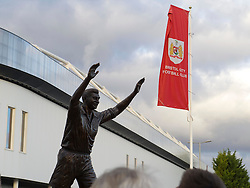 Statue of John Atyeo is unveiled in front of gathered supporters at Ashton Gate - Mandatory by-line: Paul Knight/JMP - 05/11/2016 - FOOTBALL - Ashton Gate - Bristol, England - Bristol City v Brighton and Hove Albion - Sky Bet Championship