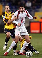 Fotball<br /> Frankrike<br /> Foto: DPPI/Digitalsport<br /> NORWAY ONLY<br /> <br /> FOOTBALL - FRENCH CHAMPIONSHIP 2007/2008 - L1 - FC SOCHAUX v LILLE OSC - 19/01/2008 - ADIL RAMI (LIL) / LIONEL MATHIS (SOC)