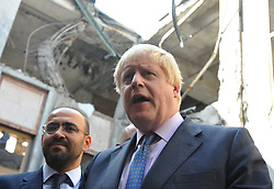 September 27, 2016 - Ankara, Türkiye - British Foreign Minister Boris Johnson visits Ankara. Johnson comes to Turkish parlaiment. He visits the Turkish parliament, which was bombed during the failed military coup (Credit Image: © Depo Photos via ZUMA Wire)