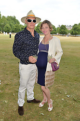 CAMILLA RUTHERFORD and DOMINIC BURNS at the Flannels For Heroes cricket competition in association with Dockers held at Burton Court, Chelsea, London on 19th June 2015