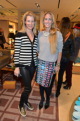 Left to right, IKA GREEN and ADRIANA CHRYSSICOPOULOS at a Valentine's Ladies breakfast hosted by Tod's and Carolina Bonfiglio at the Tod's boutique in New Bond Street, London on 10th February 2015.