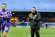 Mansfield Town Manager Graham Coughlan after the EFL Sky Bet League 2 match between Mansfield Town and Carlisle United at the One Call Stadium, Mansfield, England on 1 February 2020.