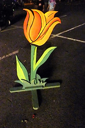 A lonely Tulip after dark. The Gathering of the Vibes 2010, Seaside Park, Bridgeport, Connecticut