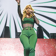 "WASHINGTON, DC - December 15th, 2014 - Iggy Azalea  performs onstage during HOT 99.5's Jingle Ball 2014 at the Verizon Center in Washington, D.C. Her single ""Fancy"" reached number one on the Billboard Hot 100. (Photo By Kyle Gustafson / For The Washington Post)"