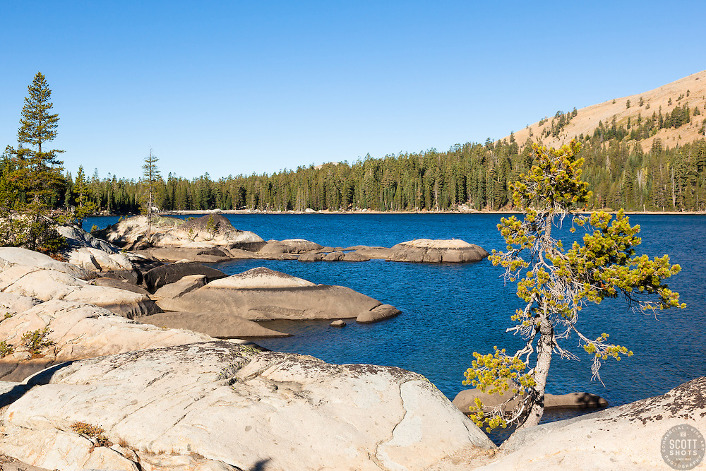 """White Rock Lake 5"" - Photograph of the Tahoe backcountry lake called White Rock Lake."