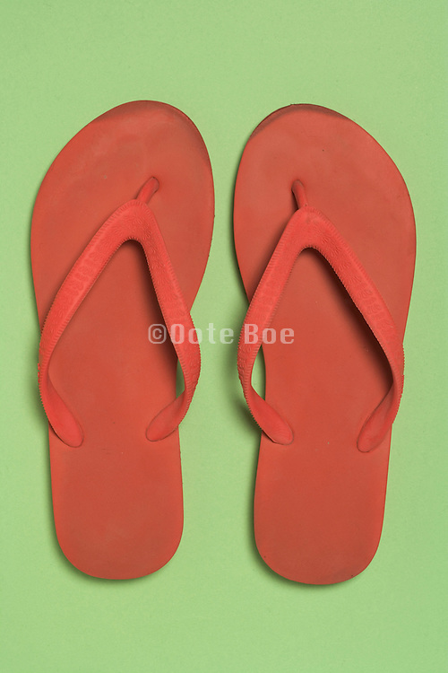 still life of beach slippers