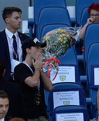 September 16, 2018 - Rome, Italy - Bouquet of flowers in memory of Maria Sensi during the Italian Serie A football match between A.S. Roma and Chievo at the Olympic Stadium in Rome, on september 16, 2018. (Credit Image: © Silvia Lore/NurPhoto/ZUMA Press)