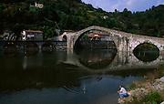 """The """"Devils Bridge"""" , near Bagni di Lucca"""
