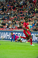 Football - 2017 / 2018 Premier League - Tottenham Hotspur vs. Swansea City<br /> <br /> Wilfried Bony of Swansea City back heels the ball —<br /> , at Wembley.<br /> <br /> COLORSPORT/WINSTON BYNORTH