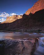 Waterfall at North Canyon. just above rapids, late afternoon light on Buttes, Colorado River, mile 20, Grand Canyon Natl. Park, Arizona..Subject photograph(s) are copyright Edward McCain. All rights are reserved except those specifically granted by Edward McCain in writing prior to publication...McCain Photography.211 S 4th Avenue.Tucson, AZ 85701-2103.(520) 623-1998.mobile: (520) 990-0999.fax: (520) 623-1190.http://www.mccainphoto.com.edward@mccainphoto.com.