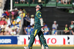 © Licensed to London News Pictures. 08/03/2012. Adelaide Oval, Australia. Brett Lee looks up to the sky after being dropped by Farveez Maharoof of Sri Lanka during the One Day International cricket match final between Australia Vs Sri Lanka. Photo credit : Asanka Brendon Ratnayake/LNP