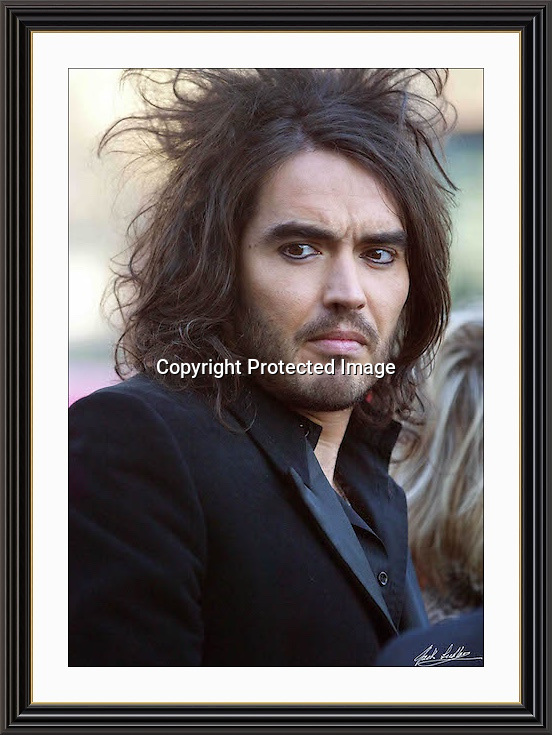 RUSSELL BRAND jan 2007 Museum-quality Large A2 Archival signed Framed Print